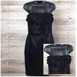 Calvin Klein cocktail dress with rosette bodice